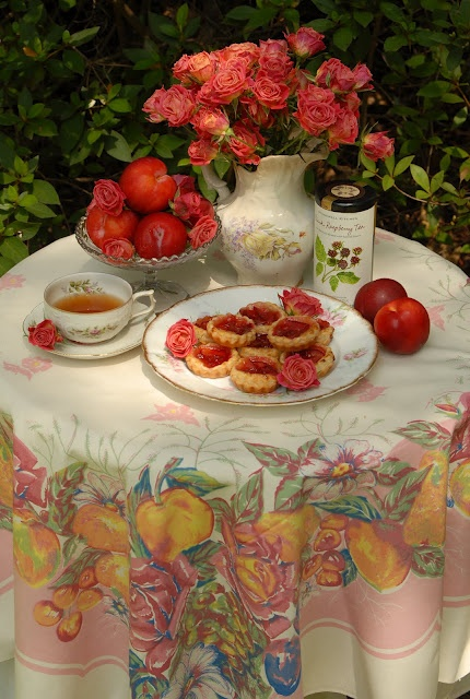 Pink Piccadilly Plum Tarts - British afternoon tea recipes