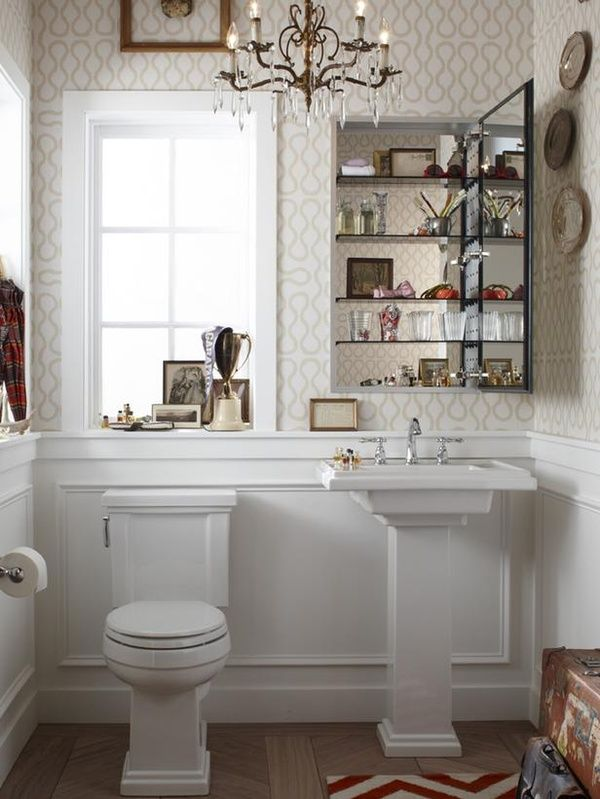 easy mini bathroom chandelier. Small Bathrooms with Big Style 300 best Master Bath  Closet Conversion images on Pinterest