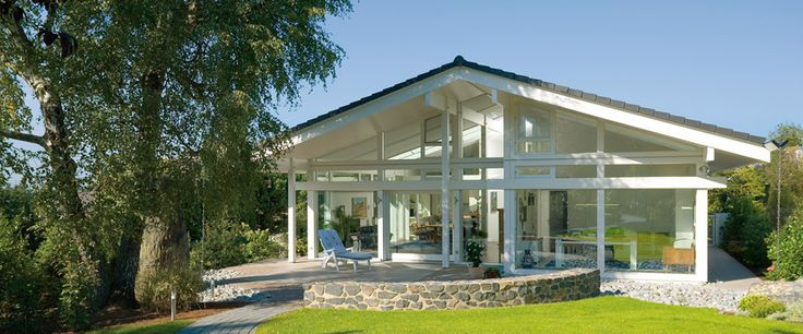 Modern bungalows huf haus bungalow even more natural for Bungalow haus modern