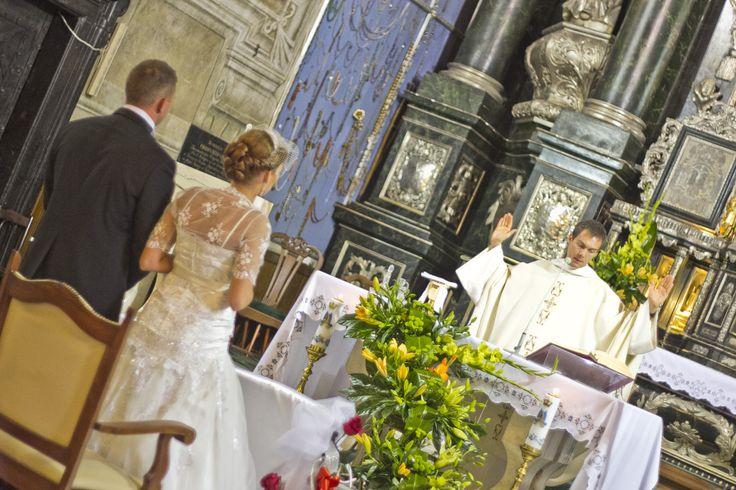 Ślub w kościele oo. Dominikanów w Jarosławiu, fot. Marcin Mituś  #dominikanie #dominikanin #op #ślub #wedding