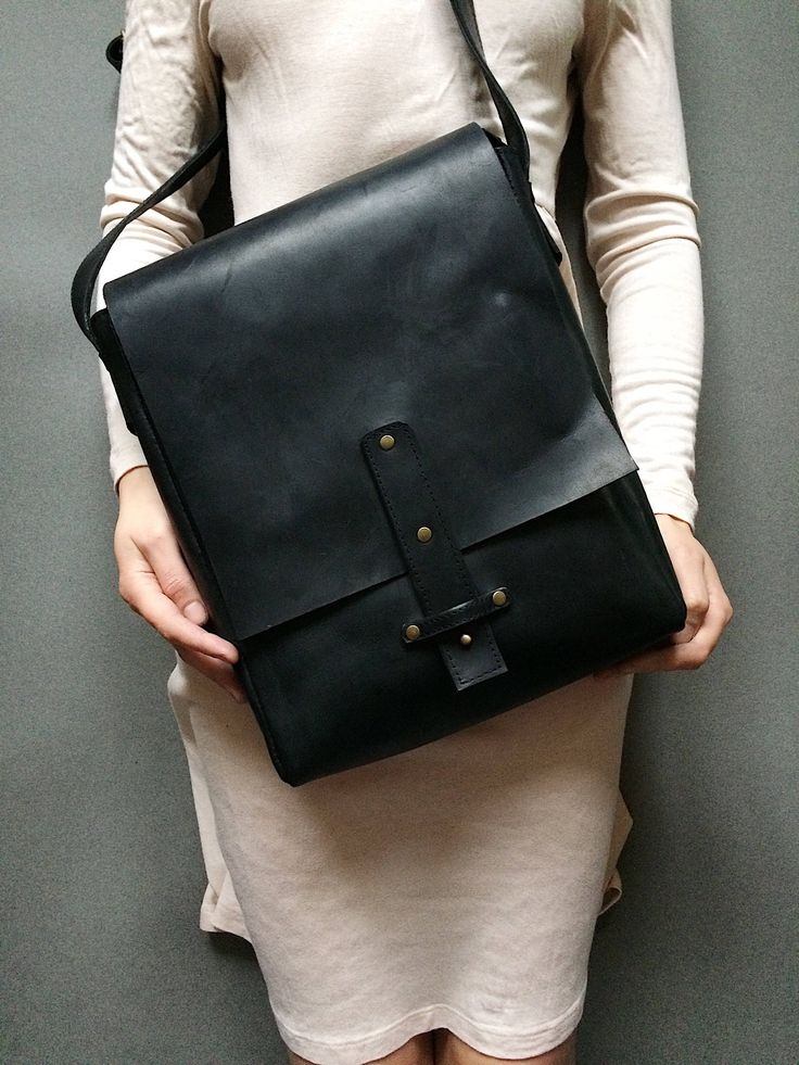 A personal favorite from my Etsy shop https://www.etsy.com/listing/578358132/black-leather-messenger-bag-tablet