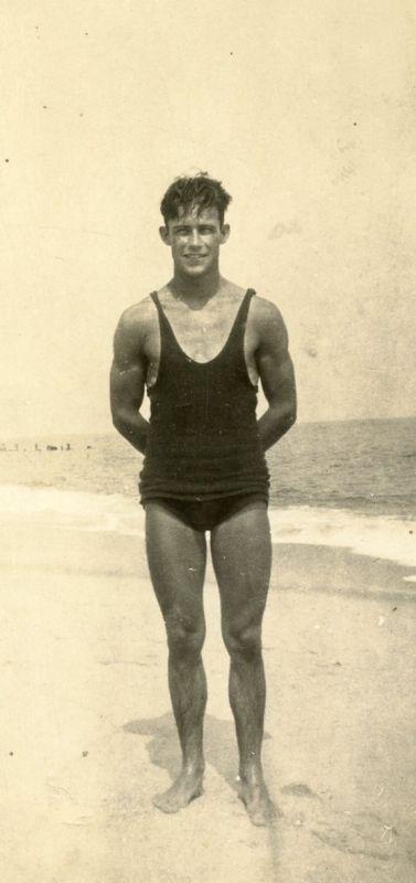 Vintage swimmer photo.