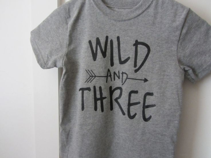 Wild and three - toddler birthday T-shirt by skeleteeprinting on Etsy…