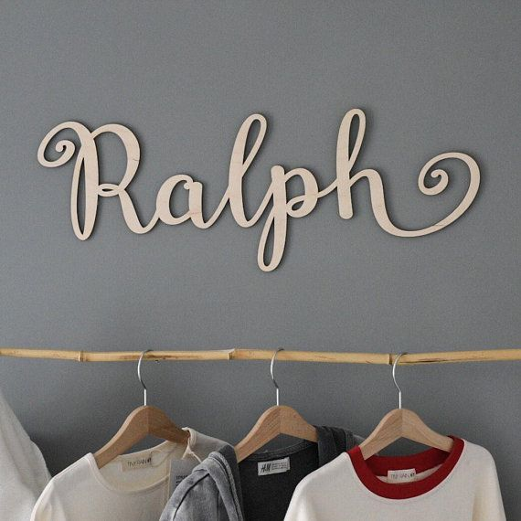 Personalised Painted Wooden Name Large Wall Sign Room Decor Nursery Plaque Word