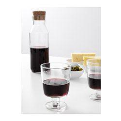 IKEA - IKEA 365+, Vinglas, Kan även användas till varma drycker.Kan staplas i varandra för att spara plats i skåpet när de inte används.Av härdat glas som gör vinglaset extra tåligt mot stötar och därmed hållbar.Glasets vida form gör att du också kan använda det som en dessertskål för att servera läckra efterrätter.