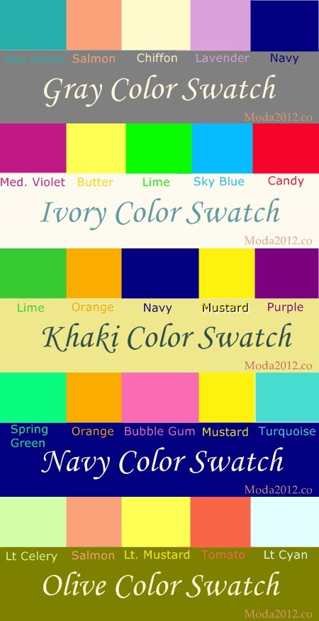 What colors to wear with gray ivory khaki navy and for What colors match with navy blue