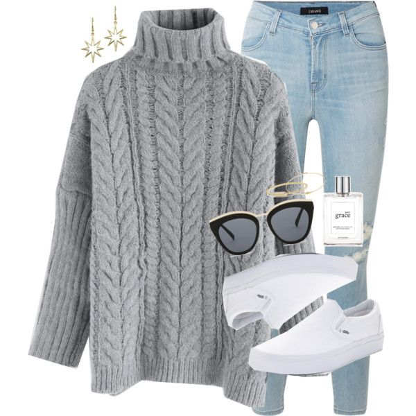latchin' on to you by simplysarahkate on Polyvore featuring polyvore, fashion, style, Chicwish, J Brand, Vans, David Yurman, Jennifer Meyer Jewelry, Le Specs and philosophy