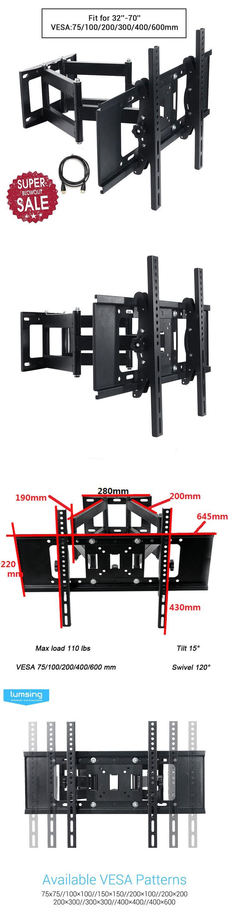 TV Mounts and Brackets: Full Motion Tv Wall Mount Bracket Tilt Swivel Lcd Led 32 37 40 42 47 55 60 65 70 -> BUY IT NOW ONLY: $36.99 on eBay!