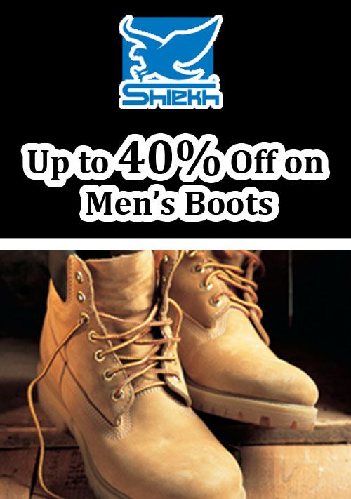 Men's boots on sale, up to 40% discount at shiekhshoes.com.. This deal is currently activate on this site. For more Shiekh Shoes Coupon Codes visit: www.couponcutcode.com/coupons/enjoy-upto-40-discount-on-mens-boots/