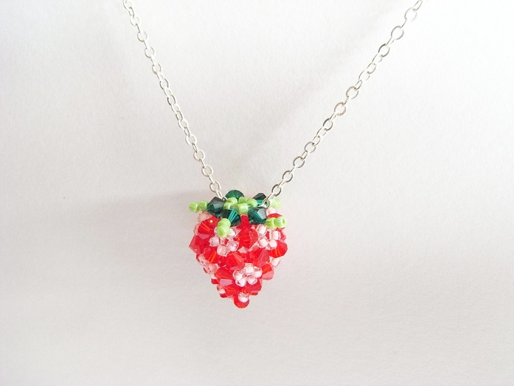 59 best images about strawberries on pinterest for Strawberry shortcake necklace jewelry