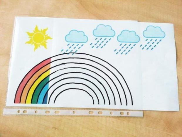 Neuveriteľne jednoduchá a zábavná hračka pre malé deti - dúha, slnko, dážď, Tvorenie z papiera - Artmama.sk