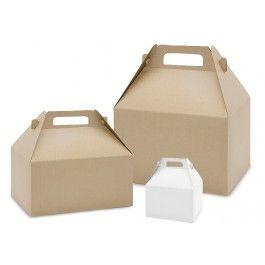 White & Kraft Gable Boxes - Box and Wrap