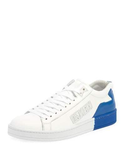 a0c3a520a Kenzo Men's Tennix Two-Tone Leather Sneakers | Men's Shoes | Leather ...