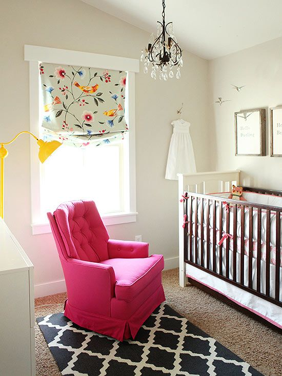 You don't need to make everything bright and bold to achieve the perfect colorful room. Pick one statement piece and build the color palette around it! http://www.bhg.com/decorating/makeovers/6th-street-design-school-blog-house-tour/?socsrc=bhgpin010215touchofpink&page=3