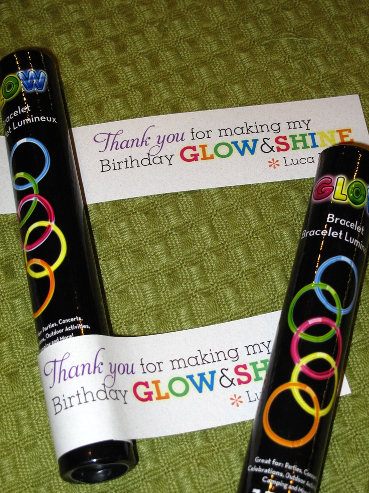 Best 25 school birthday favors ideas on pinterest for 13th floor glow stick