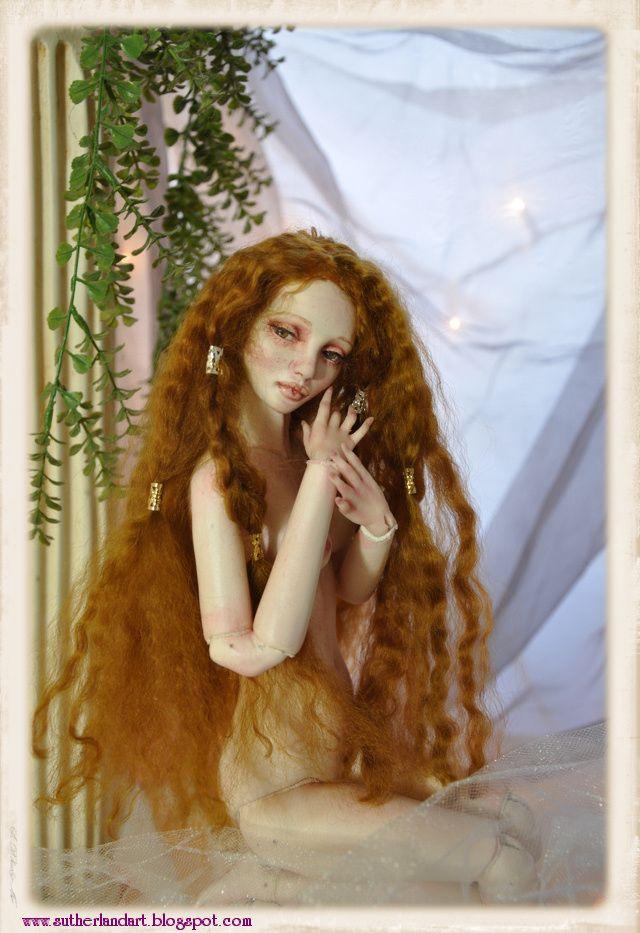 Aurora.. HAND MADE BALL JOINTED DOLL by SutherlandArt.deviantart.comArtisan Crafts, Art Dolls Dol, Hands Made, Hands Sculpting, Ball Jointed Dolls, 15 Inch, Inch Double, Double Jointed, Sculpting Hands
