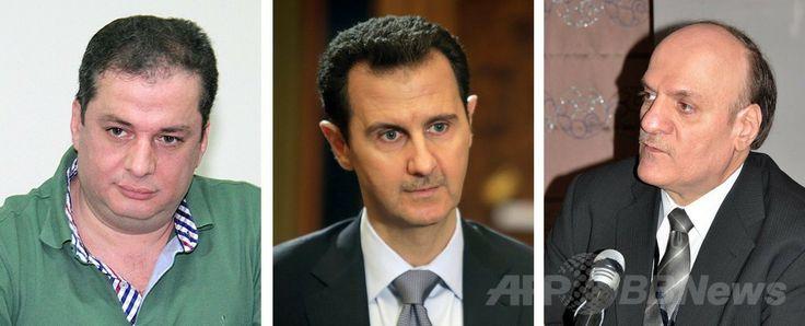 シリア大統領選への出馬が認められた(左から)マーヘル・アブドル・ハフィズ・ハジャル(Maher Abdel Hafiz Hajjar)氏(2013年7月30日撮影)、バッシャール・アサド(Bashar al-Assad)現大統領(2014年1月20日撮影)、ハサン・アブダラ・ヌリ(Hassan Abdallah al-Nuri)氏(2012年4月3日撮影)。いずれもシリア・ダマスカス(Damascus)で撮影。(c)AFP/SANA/JOSEPH EID ▼5May2014AFP|アサド氏ら3人の出馬承認、シリア大統領選 http://www.afpbb.com/articles/-/3014178