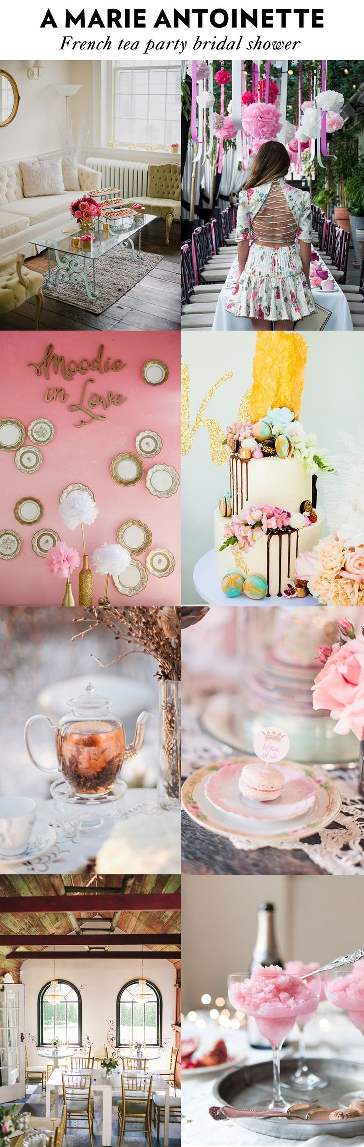 A Marie Antoinette French tea party bridal shower