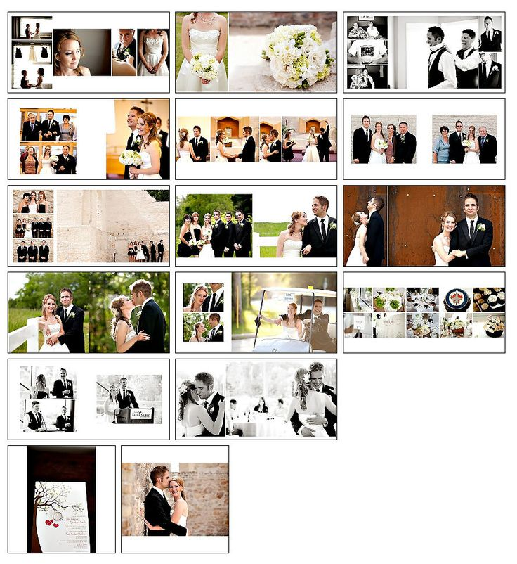 Photo Album Examples: Wedding Album Template