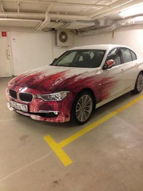 Bloooooooood painting #Chrome #VinylWraps #Rvinyl ***Use Code CHROME for 25% Off Until 11.11.14 at http://www.rvinyl.com/Chrome-Vinyl-Film-Wraps.htm***