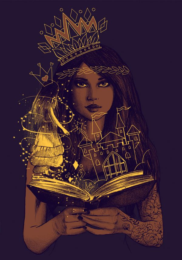 Картинка девушка в короне арт