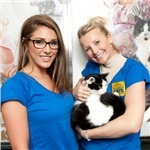 Model Lucy Pinder and actress Carley Stenson helped promote Volunteers' Week at our North London Adoption Centre recently. Thanks for your support, ladies!