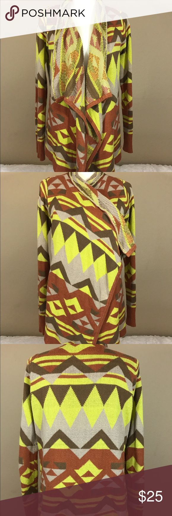 Blue Pepper tribal print sweater cardigan Great condition! Blu Pepper Sweaters