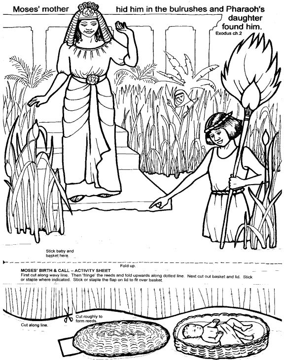 moses in the basket this site has some great bible activities and coloring pages passover