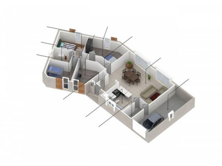 Les 11 meilleures images du tableau maisons plain pied sur for Modele plan de maison plain pied