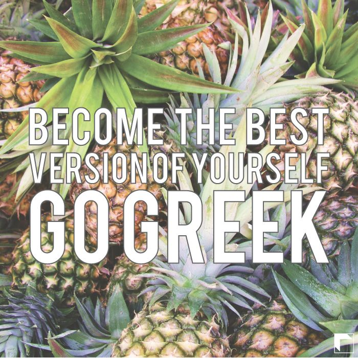 Become the best version of yourself. Go Greek! by Adam Block Design | Custom Greek Apparel & Sorority Clothes | www.adamblockdesign.com