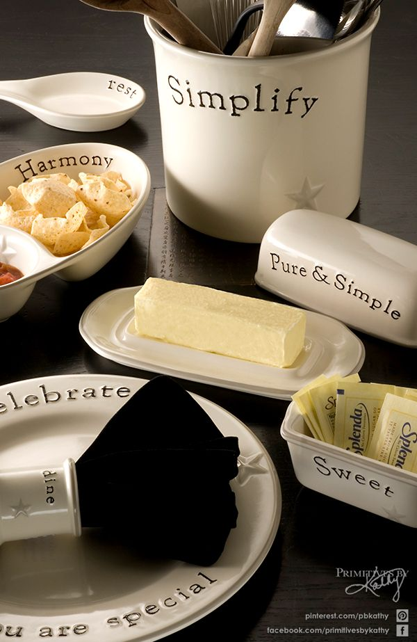 Kitchen Stoneware Word Expression Pottery By Primitives By Kathy Kitchen Amp Dining