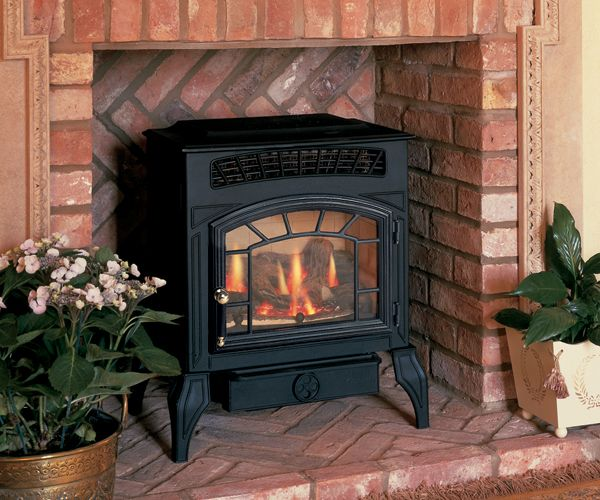 Log effect gas cast aluminium stove Up to 3.5kw output Room vent required No chimney required Manufactured by Burley Appliances Ltd Shown: Ambience log effect flueless gas stove