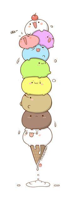 画一堆冰淇淋,来自@基质的菊长大人