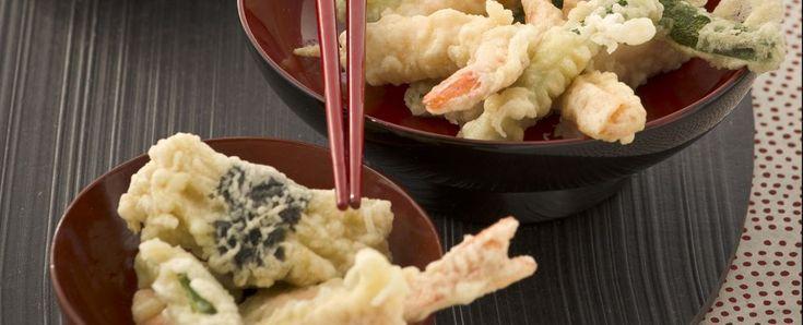 Tempura misto di verdure, pesce, crostacei e frutti di mare