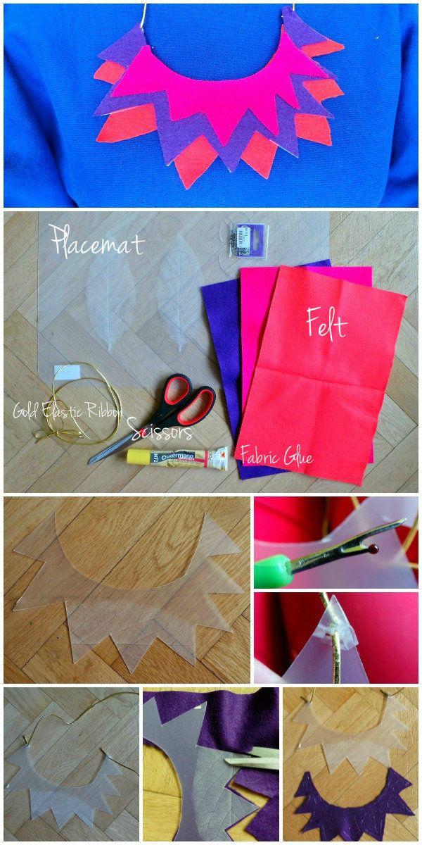 #DIY Statement Necklace #crafts