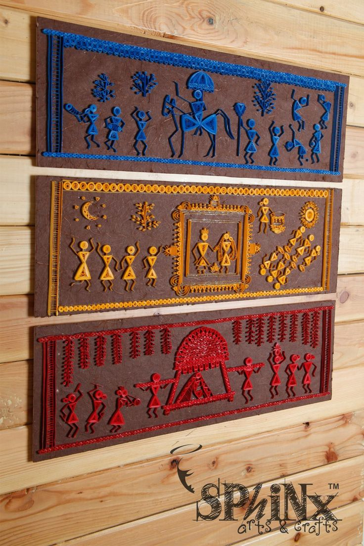 Warli - the beautiful tribal art form Maharashtra. This is a set of wallframe series depicting the traditional Indian Wedding. A perfect gift for that 'couple in making'! ;) To order, write us at hasthaa@sphinxworld.com
