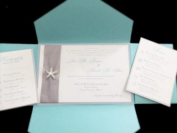 Etsy の Beach themed wedding invitation by FancyFunctionDesigns