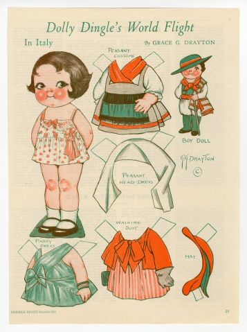 82.305: Dolly Dingle's World Flight in Italy | paper doll | Paper Dolls | Dolls | National Museum of Play Online Collections | The Strong