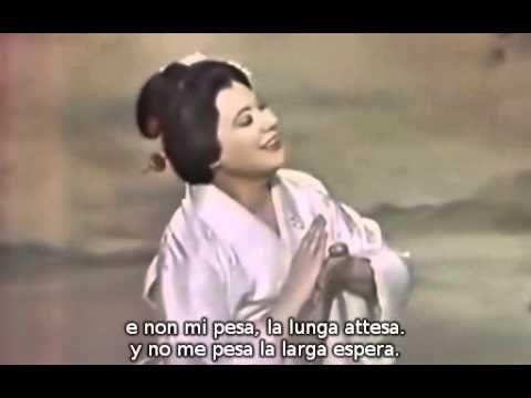 """Renata Tebaldi Spinto Lyric Soprano As Madame Butterfly (""""Cio-Cio-San"""") Aria Un Bel Di Vedremo (A beautiful day we will see) Act II Scene I Madame Butterfly Opera By Giacomo Antonio Domenico Puccini"""