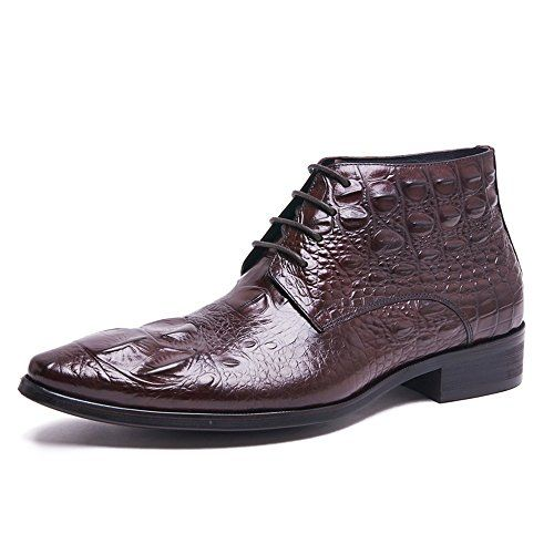 Zorgen Crocodile Embossed Pattern Genuine Leather Men's D…