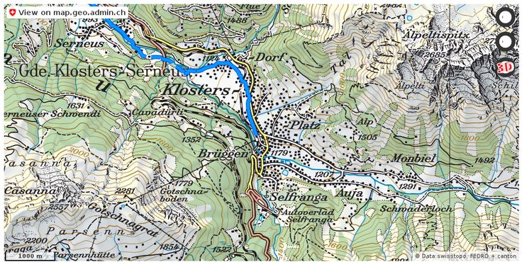 Klosters-Serneus GR Velowege Fahrrad velotour #mobil #routenplaner http://ift.tt/2hDUfHu #maps #schweiz