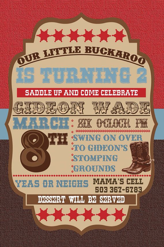 135 best Party - Cowboy images on Pinterest | Cowgirl party ...