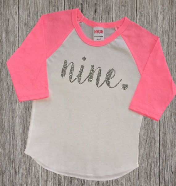 Nine Year Old Birthday Shirt | Ninth Birthday Girl Shirt | 9 Year Birthday Shirt | 9th Birthday Shirt | Birthday Girl Outfit | Raglan