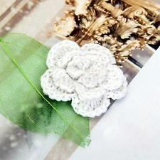 40x 5-Petal Handmade Spring Flower Crochet knitting Applique Sewing Trim Craft