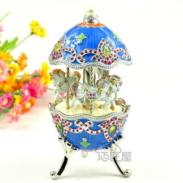New arrival blue metal music box the wedding day gift for lover or girlfriend on AliExpress.com. $62.00