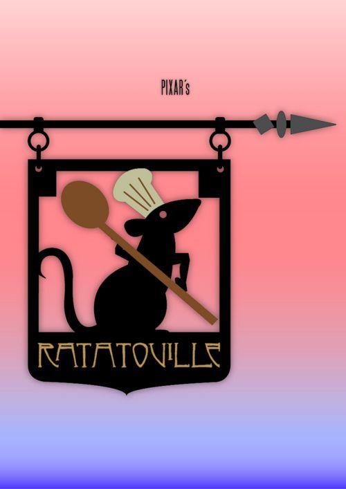 Minimal Movie Posters - Ratatouille