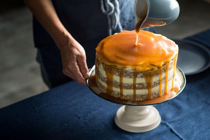 Hummingbird cake w caramel
