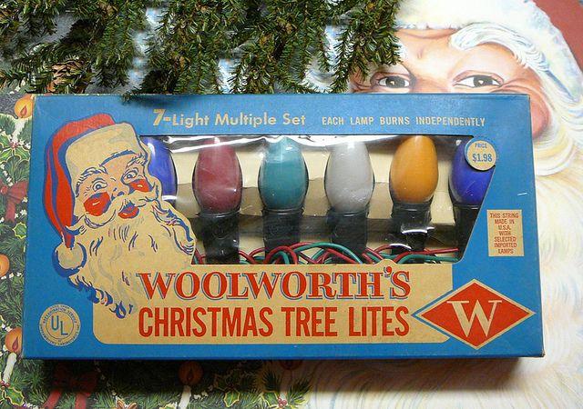 1950's Woolworths Christmas Tree Light Set, via Flickr.