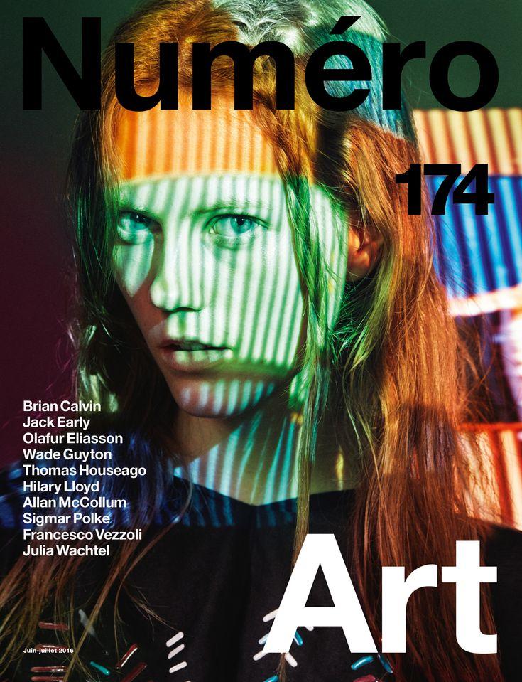 COVER Numéro Art : Julia Wachtel by Victor Demarchelier.