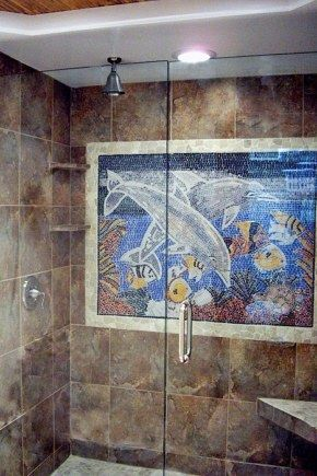 485 best images about beach house decor on pinterest for Dolphin tile mural
